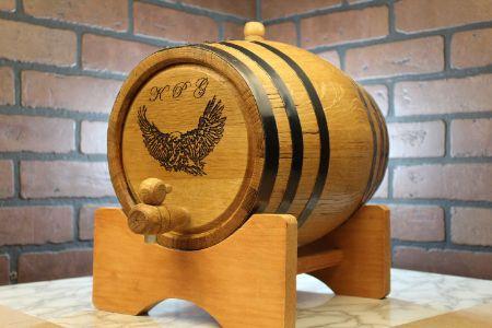 Picture for category Black Hoop Oak barrels