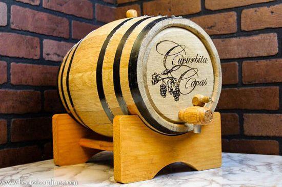 10 liter black band barrel with engraving