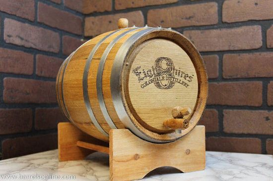 3 liter steel band barrel with engraving