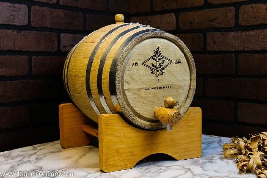 10L steel band barrel with logo