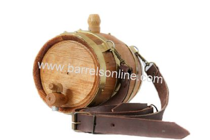 Saint Bernard barrel in brass bands.