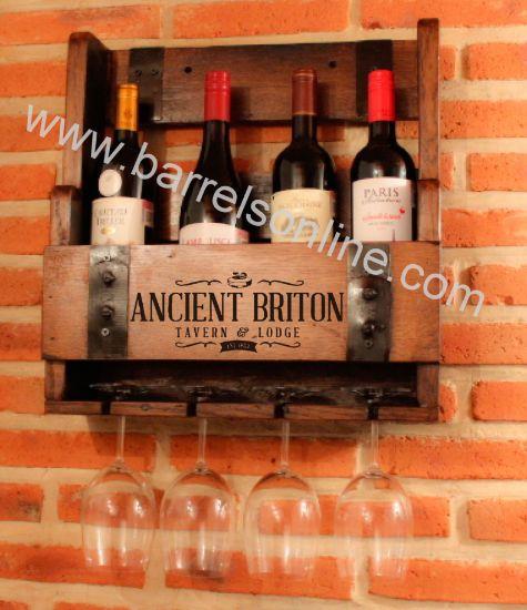 hanging wine bottle holder