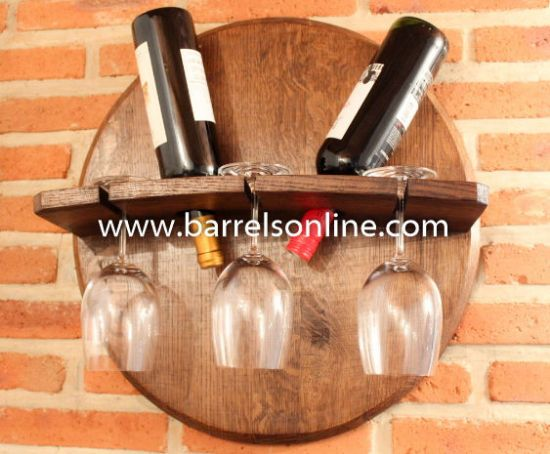 Picture of Wine bottle holder barrel head