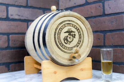 Picture of Oak Barrel -1.32 gallons  (5 liter) Black Hoop
