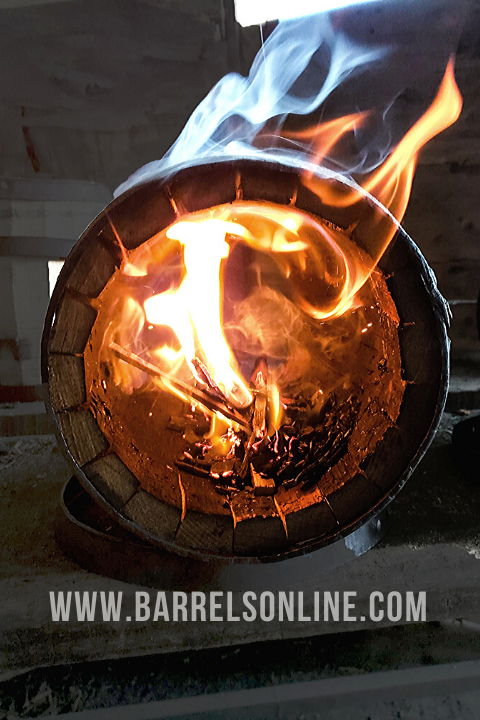 barrel being charred
